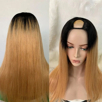 7 Days Waiting U Part Wig Straight Hair 1B/Light Brown Color CW-72