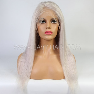 White Aluminium Color Straight Hair Wig 7 Days Waiting 613lfw-78A6