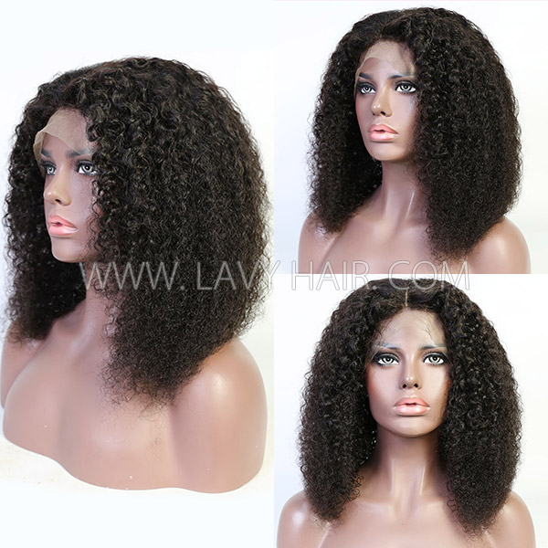 Fashion Deep Curly 130% Density Sewing Wigs Natural Hairline With Elastic Band HMW-DCW