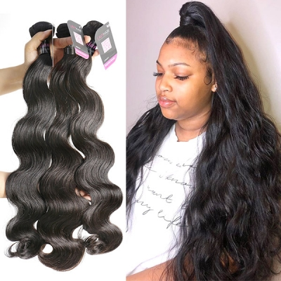 Superior Grade mix 3 or 4 bundles Malaysian body wave Virgin Human hair extensions
