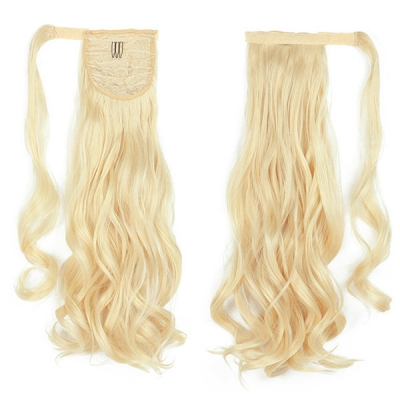 613 Blonde Color Clip-in Ponytail Wrap Around Human Virgin Hair Extension