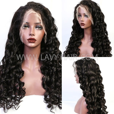 Higher Density Different Hair Style Pre plucked Human Virgin Hair Sewing Wigs With Elastic Band HMW-LW