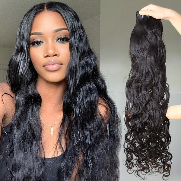 Superior Grade 1 bundle natural wave Virgin Human hair extensions  Brazilian Peruvian Malaysian Indian European Cambodian Burmese Mongolian