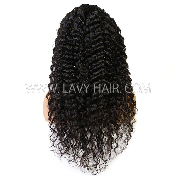 Lace Frontal Wigs 130% Density Deep Wave Human hair