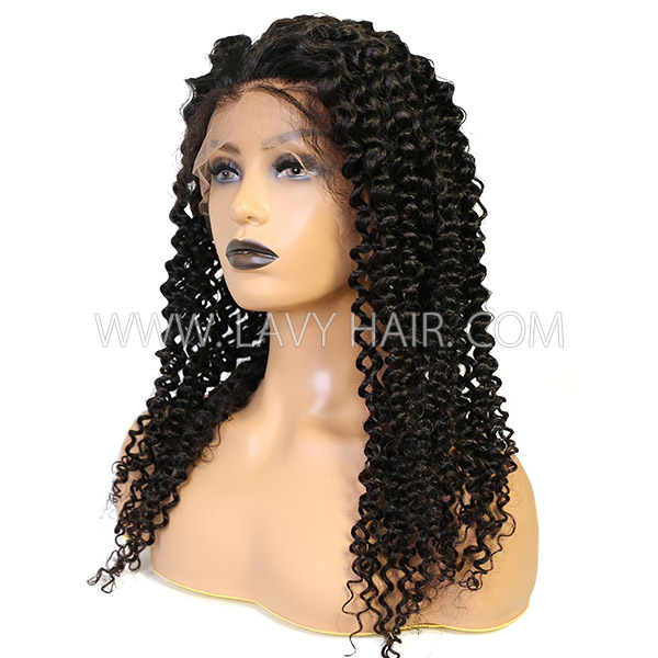 Lace Front Wigs 130% Density Deep Curly Human hair