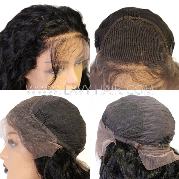 Lace Frontal Wigs 180% Density Loose Wave Human Hair