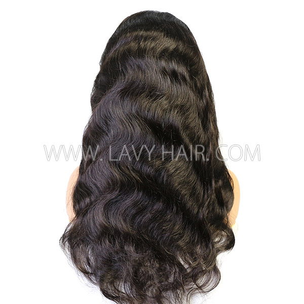 130% Density Silk Base Top Closure Full Lace Wigs Body Wave Human Hair