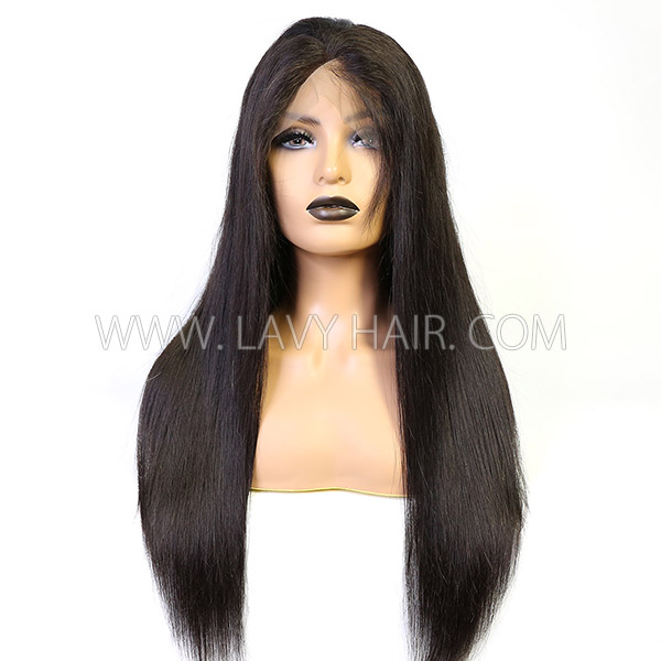 130% Density Silk Base Top Closure Full Lace Wigs Straight Hair Human Hair