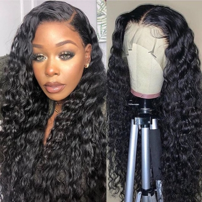 180% Density Full Lace Wigs Deep Wave Human Hair