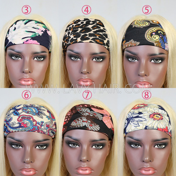 Scarf Headband Wig 613 Blonde Color Human Virgin Hair No Glue No Lace
