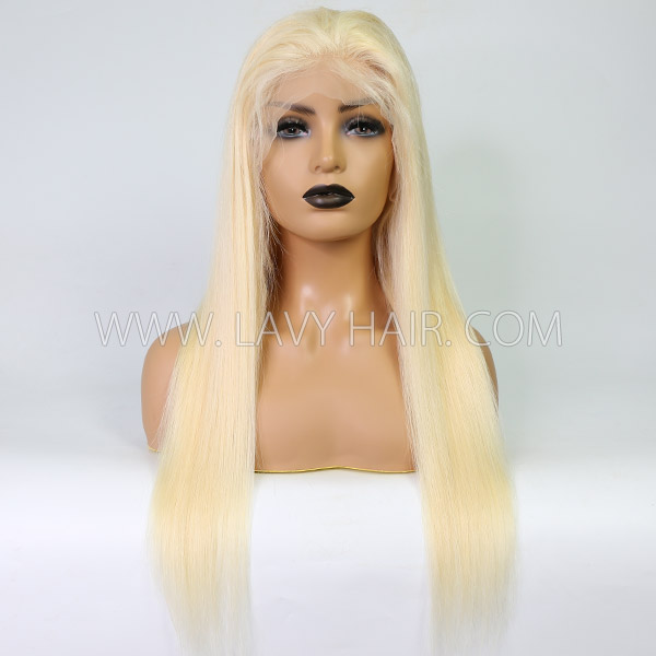 #613 Blonde Lace Frontal Wigs 180% Density Straight Human Hair