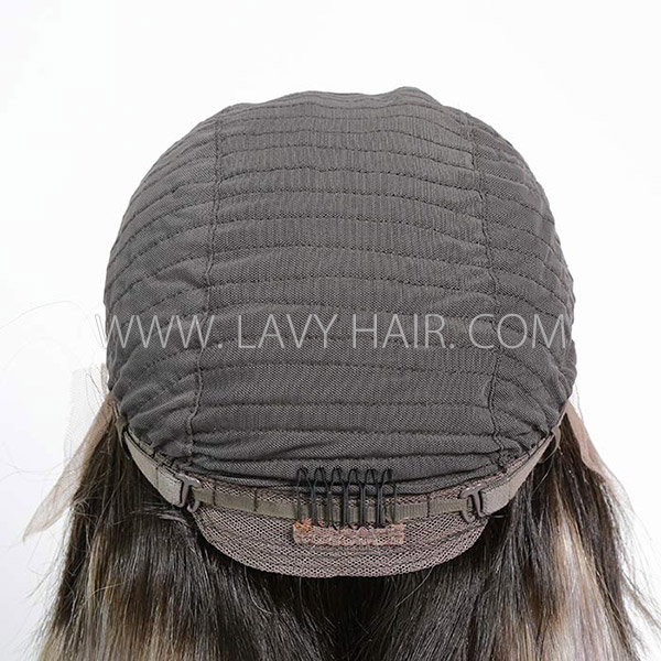 1B/grey Color Lace Frontal Wig Straight Hair Human Hair