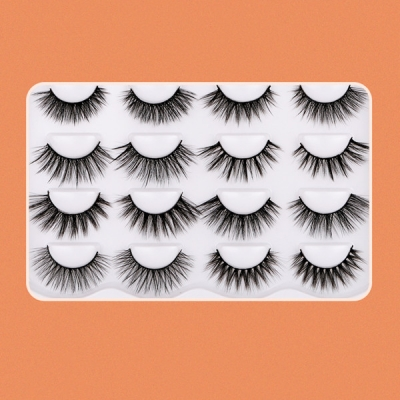 10 Pair a Set 3D Soft Eyelashes Wispy Fluffy Long Lashes Natural Eye Makeup