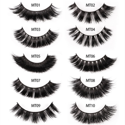 1 Pair 3D Mink Eyelashes MT Series (10 size choices ,leave message or by random)