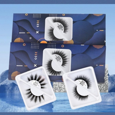 3 Pair one Pack 3D Mink Hair False Eyelashes (6 size choices ,leave message or by random)