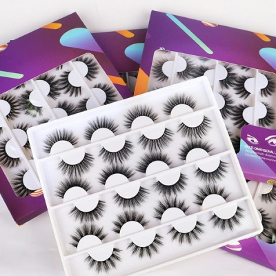 12 Pairs A Set False Mink Eyelashes Wispy Makeup Beauty Eyelash