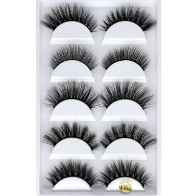 5 Pair one Set 3D Mink Hair False Eyelashes (6 size choices ,leave message or by random)