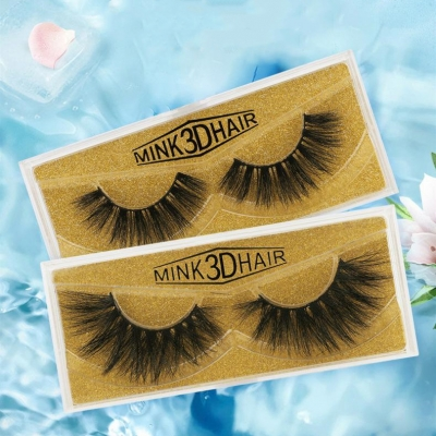 1 Pair Large 3D Mink Hair False Eyelashes  (25 size choices ,leave message or by random)